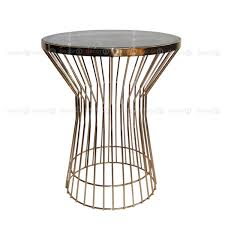 marble coffee table decor8 gramercy round metal side and accent table with black marble and