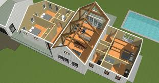 hybrid or partial post and beam has bee a por option in today s world of timber framing yankee barn homes uses specialized equipment in the