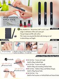 Makartt Professional Nail Files Washable Double Sided 100 180 Grit Nail Buffering Files 10pcs Emery Board For Nails Black