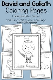 David And Goliath Bible Coloring Pages Mamas Learning Corner