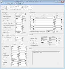 Natural Gas Piping Chart Elite Software Hvac Tools