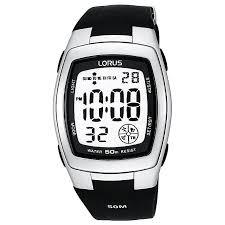 lorus men s black digital watch h samuel lorus men s black digital watch product number 9449434