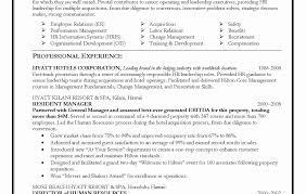 Examples Of Human Resources Resumes Elegant Hr Generalist Resume
