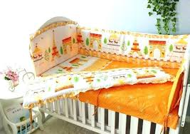 orange baby bedding sets girls boys set pers in crib with mini per