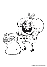 Small Picture Halloween SpongeBob SquarePants coloring page Spongebob coloring