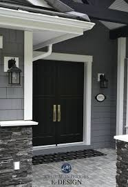 exterior paint palette similar to benjamin moore dior gray sherwin tricorn black white