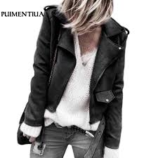 puimentiua 2018 hot autumn winter faux leather jacket women motorcycle zipper short jacket coat fashion black pink outerwear huhc19203