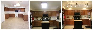 kitchen lighting replace fluorescent light fixture in kitchen schoolhouse satin nickel modern glass ivory islands countertops backsplash flooring