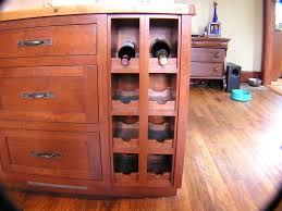 Custom Cabinet Pulls Custom Cherry Cabinet And Wine Rack