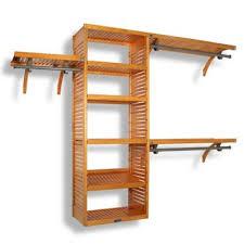 wood closet shelving. Plain Shelving John Louis Home Honey Maple Deluxe Closet Organizer To Wood Shelving M