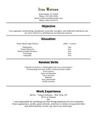 Work Resume Example Awesome 60 Free High School Student Resume Examples For Teens