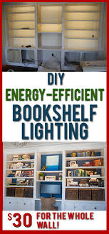 diy lights for bookshelves or under cabinets such soft even light and its so cheap diy lighting