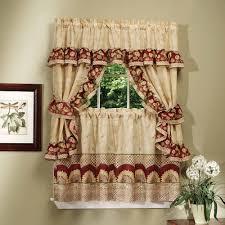 Red Kitchen Curtain Sets Sunflower Curtains For Kitchen Cliff Kitchen