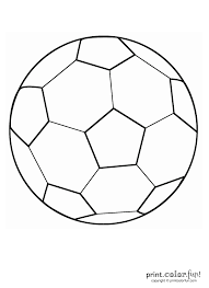 Small Picture Soccer ball coloring page Print Color Fun