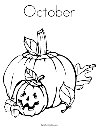 Small Picture October Coloring Pages chuckbuttcom