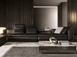yang 5 seater leather sofa