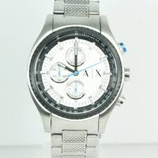 mens stainless steel armani exchange watch property room
