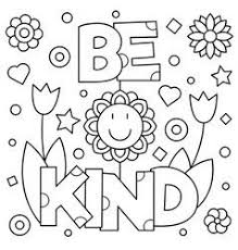 Choose Kindness Coloring Page Royalty Free Vector Image Kindness