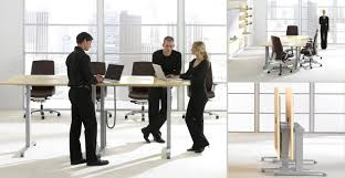 standing office table. Livello(by Teknion), Is A Folding, Height-adjustable Table. Standing Office Table N