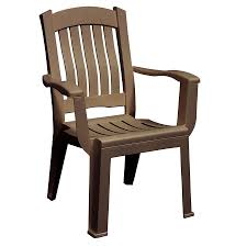 adams mfg corp stackable resin dining chair with slat seat at