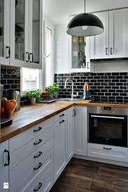 Backsplash For Kitchens Black And White Kitchen Collection Cheap Magnificent White Cabinets And Backsplash Collection