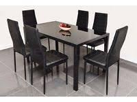 dining table chairs for sale gumtree. stunning glass dining table set black or white with 4 6 faux leather chairs brand dining table chairs for sale gumtree