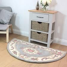 lotus premium aubusson grey half moon rug by flair rugs