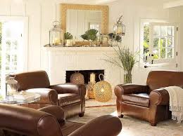 98448 luxury brown leather couch living room decorating idea with