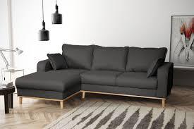 Sofa Couch Ecksofa Eckcouch Wohnlandschaft In Gewebestoff Braun Grau L