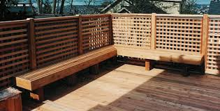 image of custom deck benches