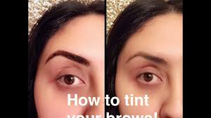 how to tint your eyebrows at home with food coloring