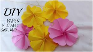 Paper Flower Garland Diy How To Make Paper Flower Garland Tutorial Wall Hanging Room Decor Easy Paper Craft