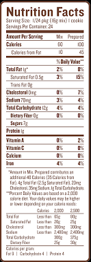 nutrition facts nutfacts pancake tates chocolate chip