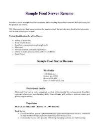 Food Server Resume Mesmerizing 48 Luxury Food Service Skills For Resume Images