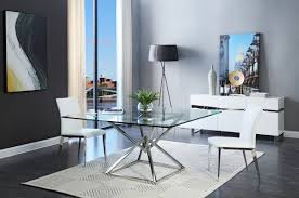 modern glass dining table. Modern Dining Table Clear Glass I