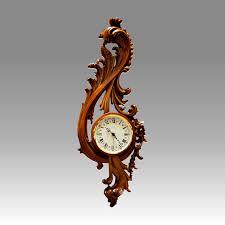 wall clock vienna clock 208 1 walnut handcurved wood quartz battery movement