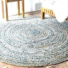 6 round jute rug 4 foot round jute rug handmade braided natural fiber and denim 6