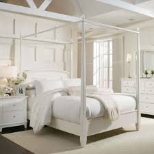 White Wood Full Size Four Poster Canopy Bed For Girls of 17 Stunning ...
