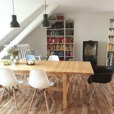 Wohnzimmer Mit Ikea Norden Esstisch Eames Chairs Skantherm