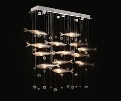 creative led crystal chandelier restauran tlights flying fish bar lighting light
