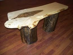 tree stump coffee table base