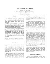 Research Paper On Voip Technology