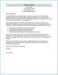 Sample Manager Cover Letter Marvellous Project Manager Cover Letter Sample To Design