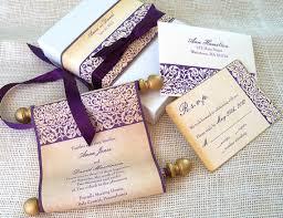 Fairytale Wedding Invitation Wedding Invitation Scroll With Floral
