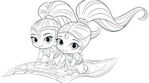 Shimmer And Shine Mermaid Coloring Pages Shimmer Shine Coloring