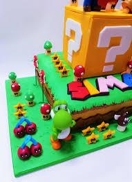 This super mario brothers birthday cake i did for my fiancee's nephew's 5th birthday party. Super Mario Luigi Birthday Cake Celebration Cakes