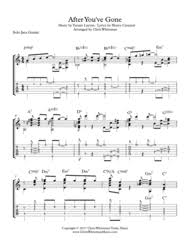 Download After Youve Gone Jazz Guitar Chord Melody Sheet Music By