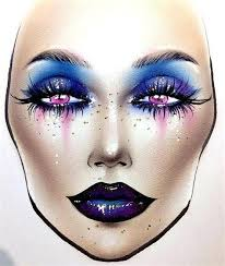 how to do makeup face charts saubhaya makeup