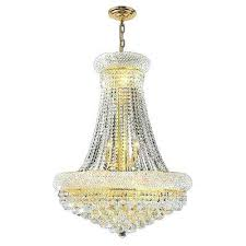 empire crystal chandelier empire light polished gold and clear crystal chandelier gallery 9 light silver empire