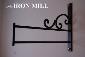 Wall mounted clothing rails Hanger Wall Mounted Decorative Clothes Rail Shop Fitting The Iron Mill Wall Mounted Decorative Clothes Rail Shop Fittingthe Iron Mill
